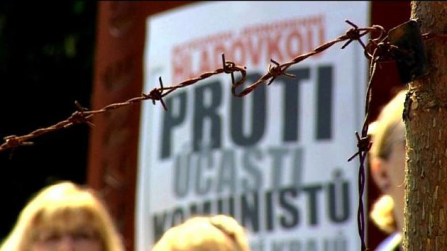 Video Protest proti komunistům