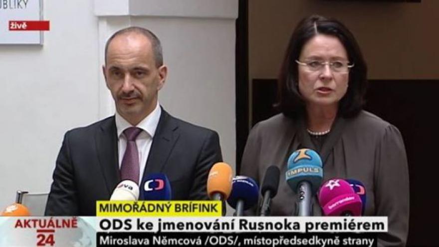 Video ODS ke jmenování Rusnoka premiérem