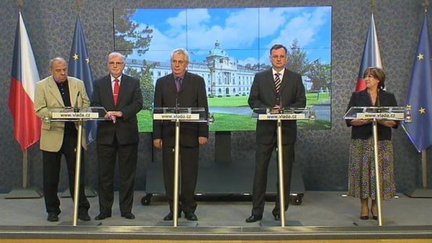 Video Brífink po jednání tripartity a prezidenta