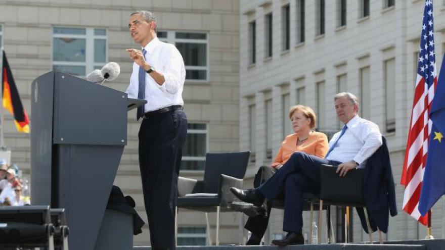 Video Barack Obama vystoupil s projevem v Berlíně