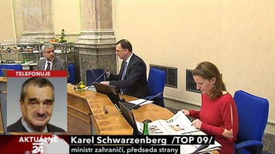 Video Karel Schwarzenberg k situaci