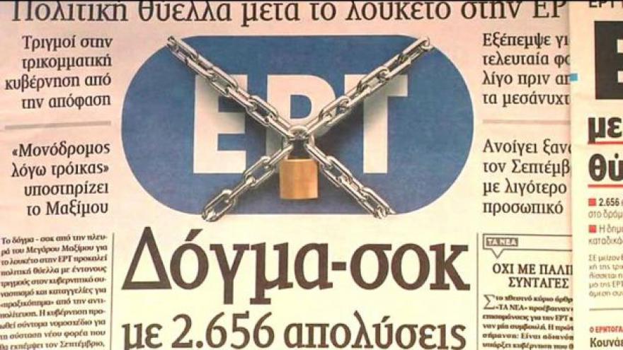 Video Řeky šokovalo ukončení vysílání veřejnoprávní televize