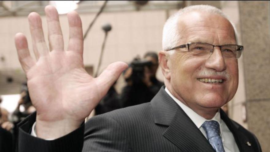 Video Václav Klaus se loučí s prezidentským úřadem