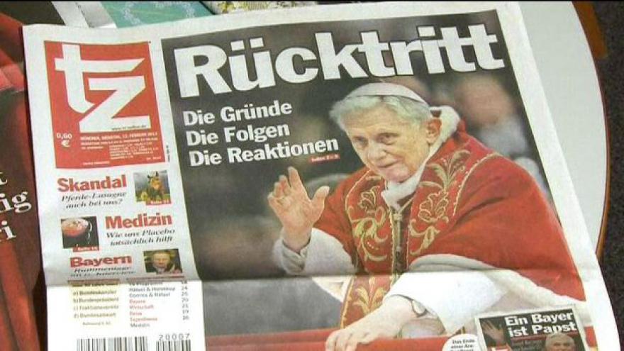 Video Odstupující papež zaujal tisk