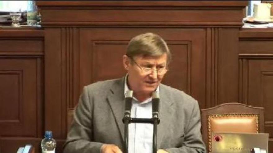 Video Grebeníček řečnil ve sněmovně o Janu Palachovi