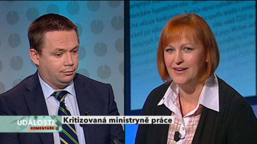 Video Lenka Kohoutová a Jiří Vaňásek v Událostech, komentářích