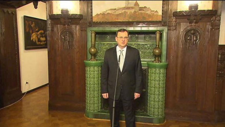 Video Premiér Nečas k výsledku volby