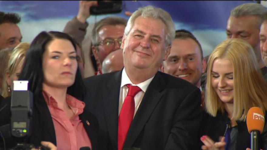 Video Miloš Zeman k výsledku volby
