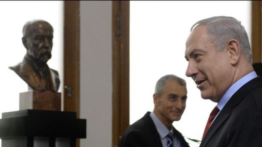Video Benjamin Netanjahu navštívil Prahu