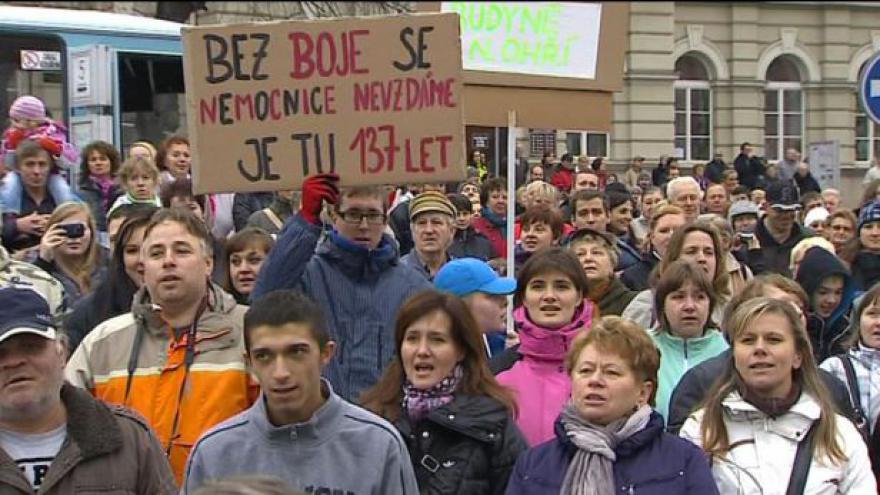Video Demonstrace za roudnickou nemocnici