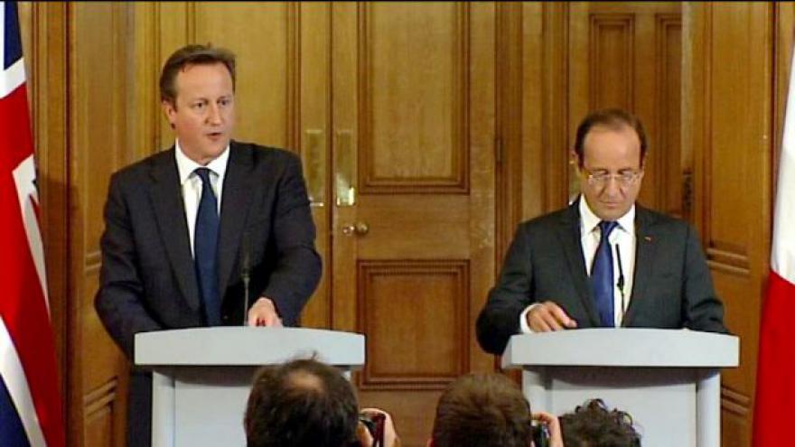 Video Brífink po setkání Hollanda a Camerona