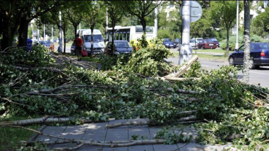 Video Českem se přehnaly bouřky