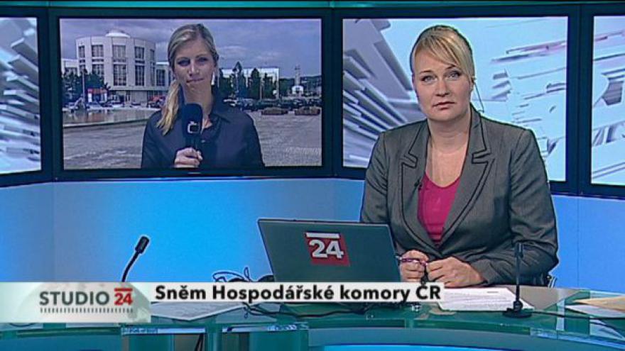Video Studio ČT24: Vstup Hedviky Dědkové
