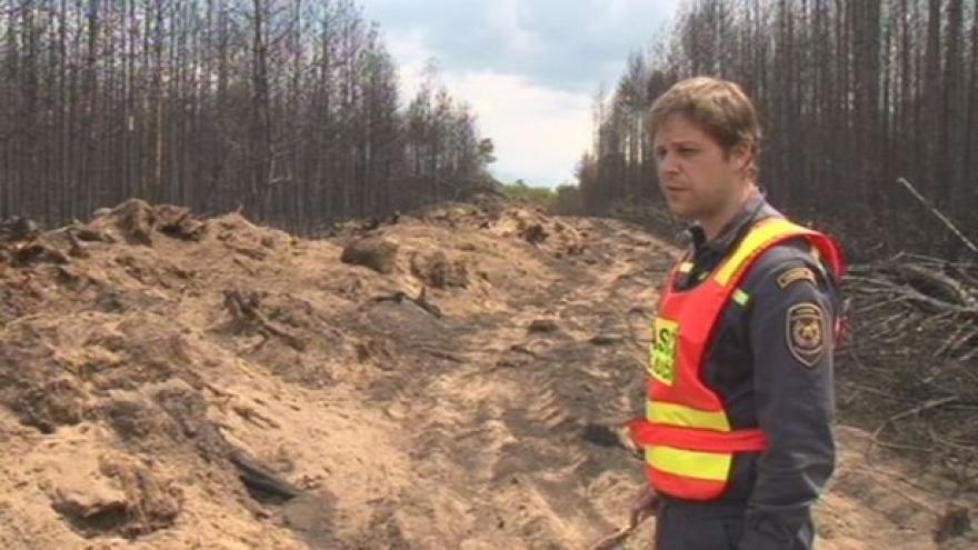 Video Mluvčí hasičů Zdeněk Hošák na požářišti