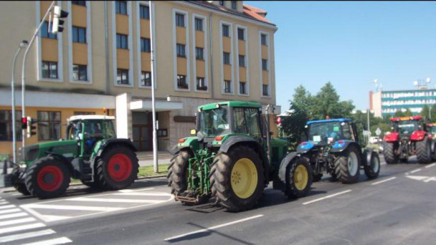 Video Protestní akce zemědělců