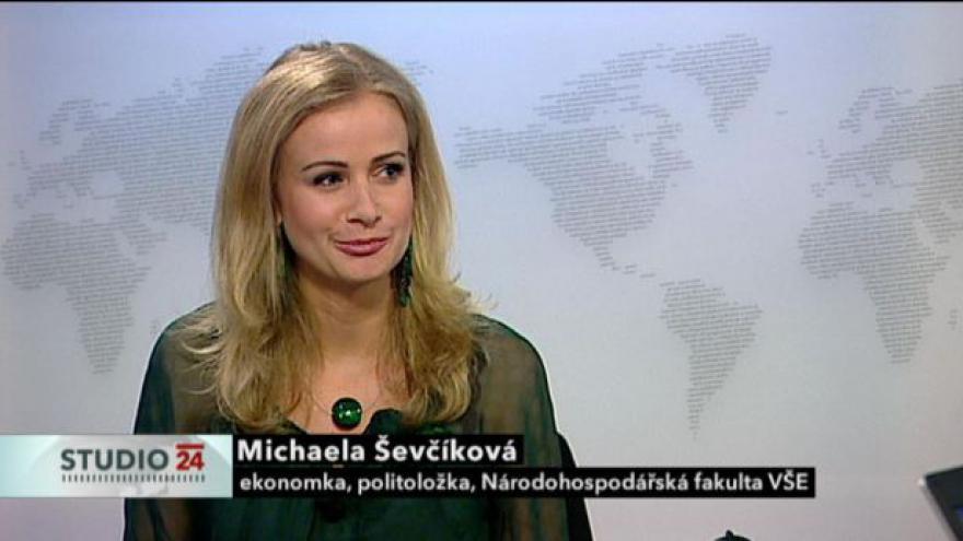Video Studio ČT24: Rozhovor s Michaelou Ševčíkovou