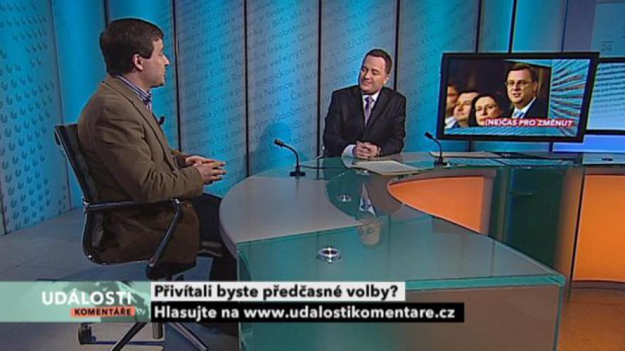 Video Rozhovor s Jiřím Přibáněm v Událostech, komentářích
