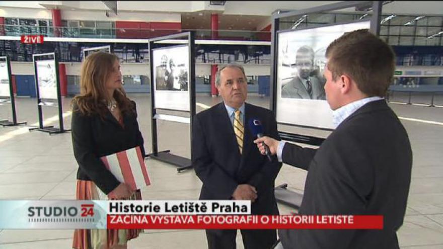 Video Studio ČT24: Vstup Oldřicha Borůvky z ruzyňského letiště