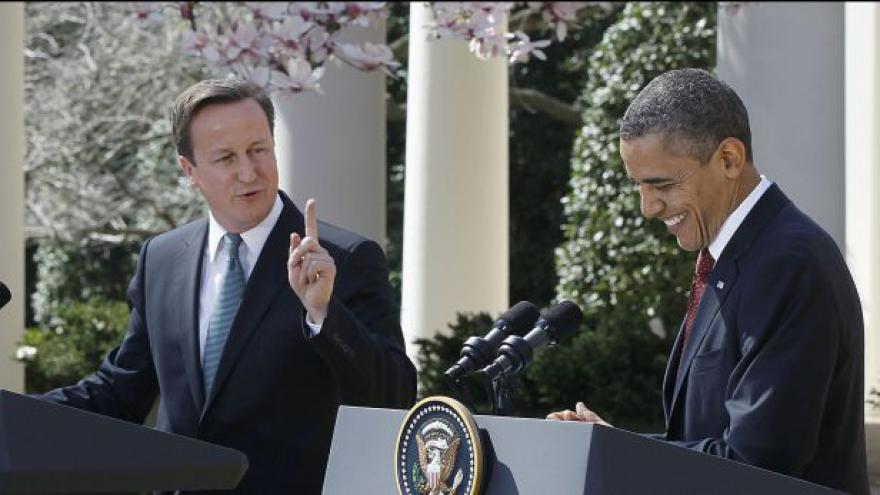Video Brífink Obamy a Camerona