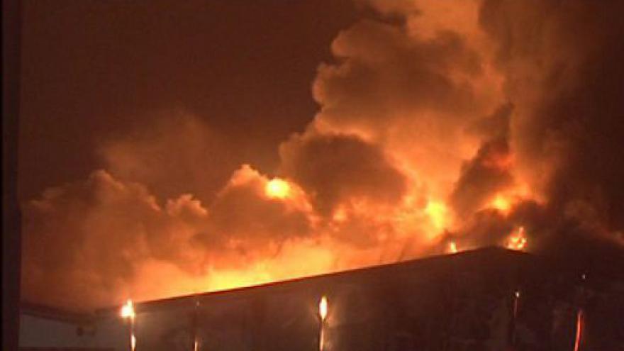 Video NO COMMENT: ničivý požár tržnice v Olomoucké ulici v Brně