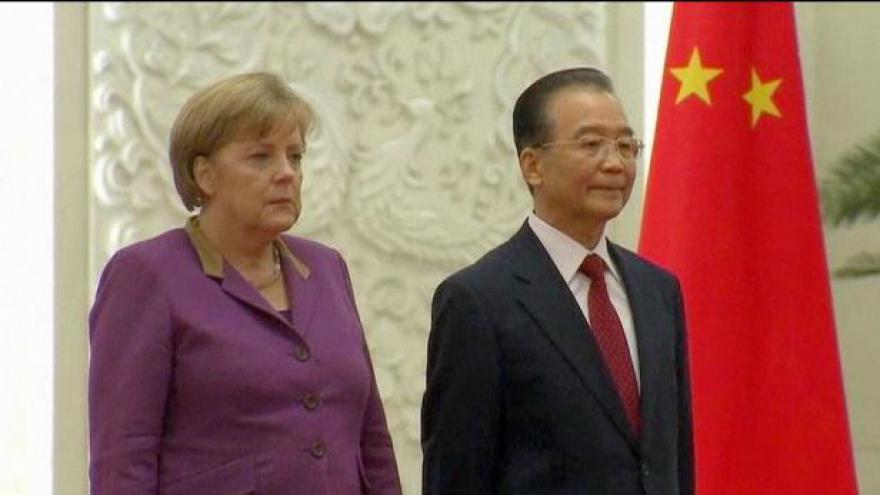 Video Merkelová na návštěvě v Číně
