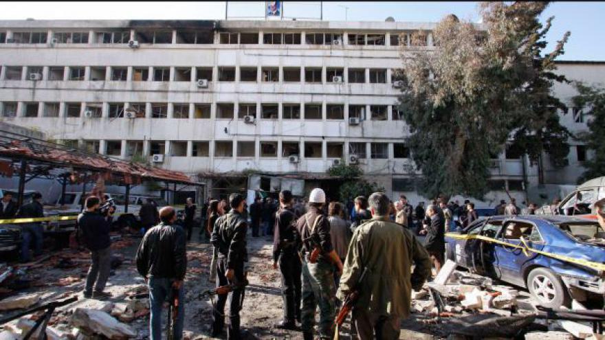 Video V Damašku explodoval autobus
