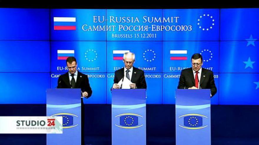 Video TK Hermana Van Rompuye, José Barrosa a Dmitrije Medveděva