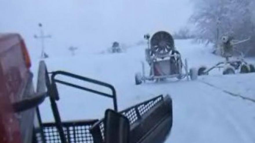 Video Na Stupavě se už začalo lyžovat