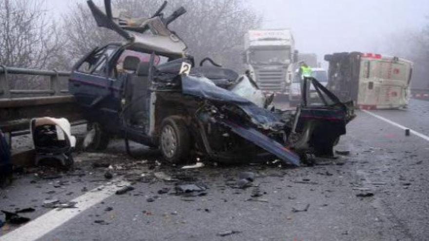 Video U Kuřimi zahynul při nehodě řidič