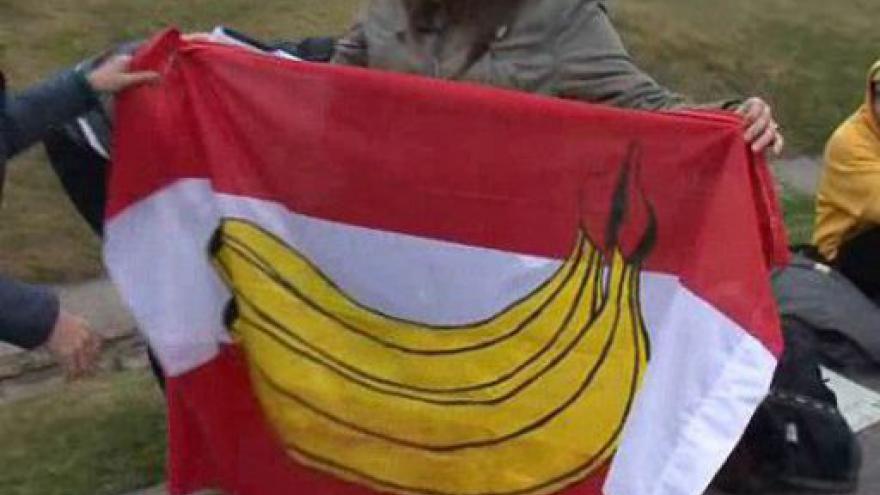 Video Protest aktivistů v Mikulově