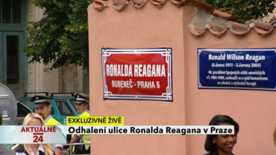 Video Slavnostní odhalení ulice R. Reagana v Praze