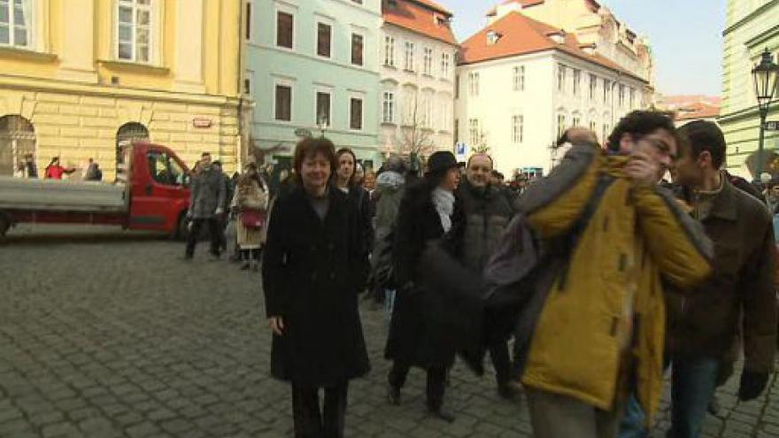 Video Protest SOP před ministerstvem kultury