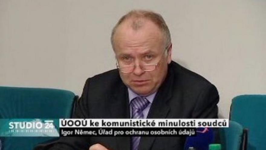 Video Vystoupení šéfa ÚOOÚ Igora Němce