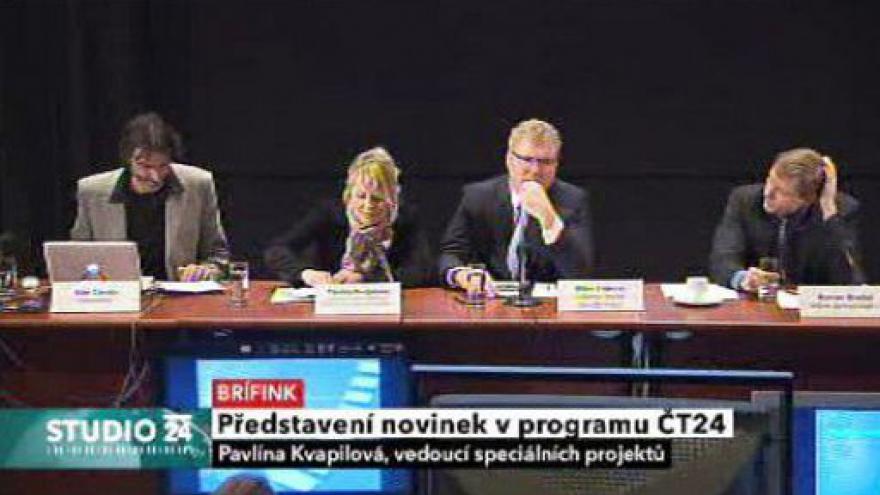 Video Brífink k novinkám ČT24, ČT4 a divize Nová média