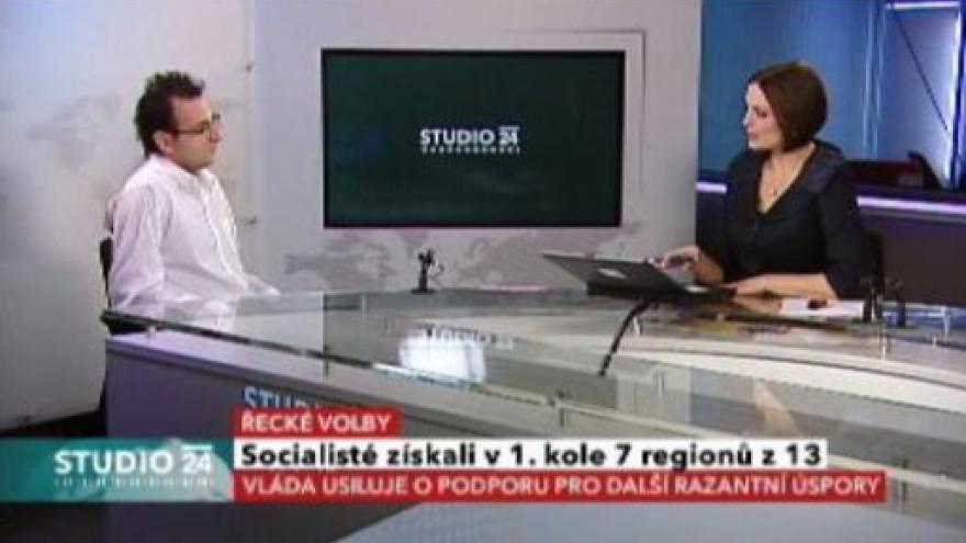Video Studio ČT24 o volbách v Řecku