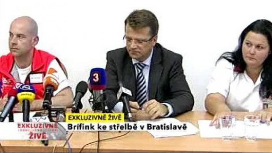 Video TK slovenské policie ke střelbě v Bratislavě