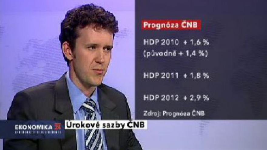 Video Prognóza ČNB v Ekonomice ČT24