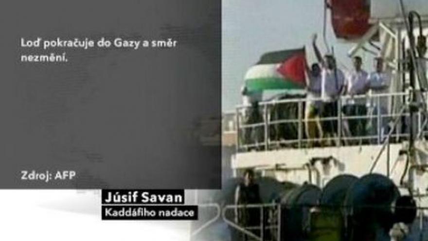 Video Izraelci obklíčili loď s humanitárním nákladem