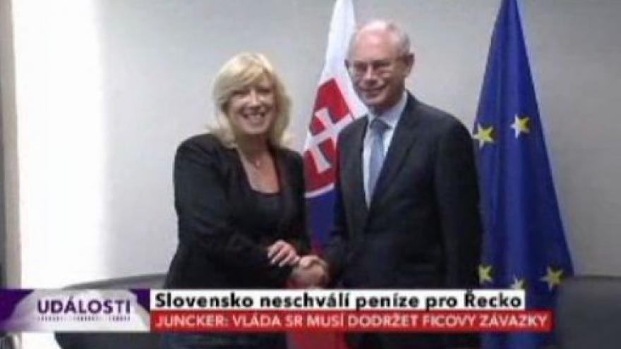 Video Nová slovenská vládá pomoc Řecku odmítá