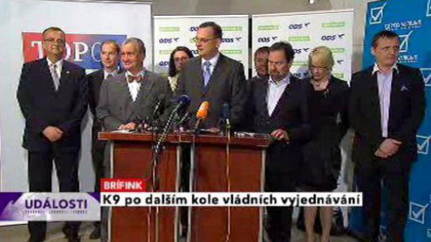 Video Brífink K9 po jednání o budoucí vládě