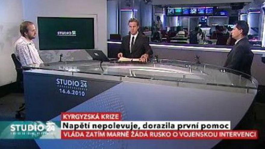Video Studio ČT24 k situaci v Kyrgyzstánu