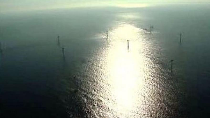 Video První německá větrná elektrárna na moři