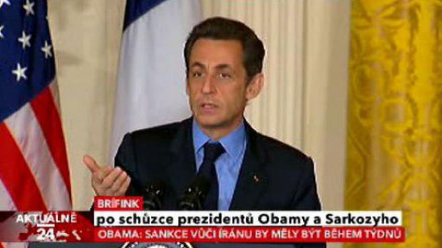Video Brífink po schůzce prezidentů Obamy a Sarkozyho