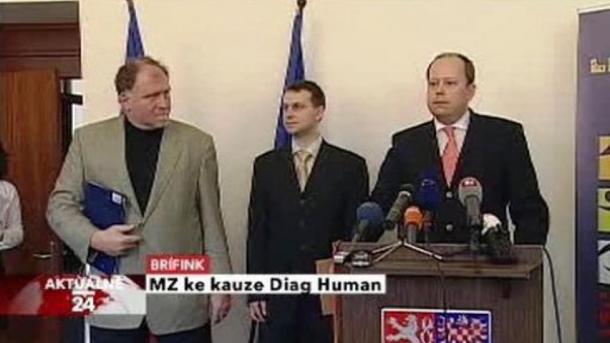 Video TK ministerstva zdravotnictví ke kauze Diag Human