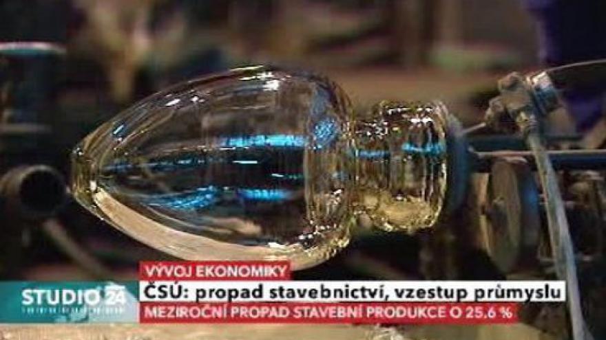 Video Studio ČT24: Výsledky průmyslu a stavebnictví