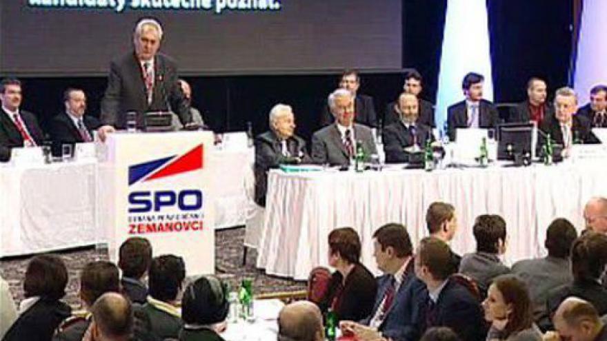 Video Projev Miloše Zemana
