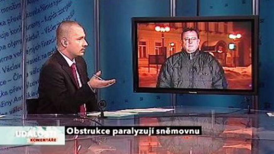 Video Lubomír Zaorálek a Petr Nečas v Událostech, komentářích