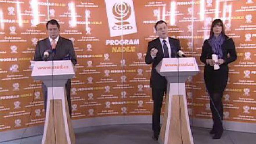 Video Tisková konference ČSSD k hrozbě státního bankrotu
