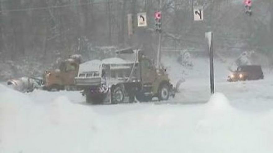Video V USA udeřila sněhová bouře