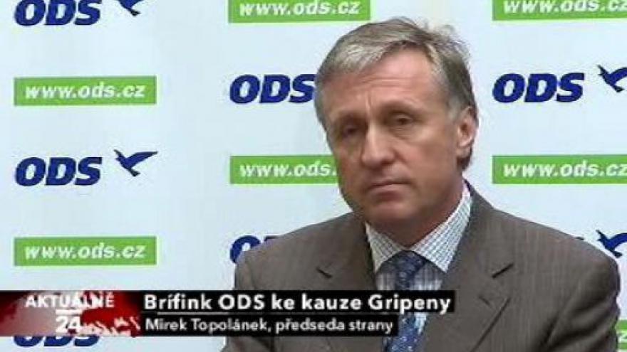 Video Brífink ODS ke kauze gripeny